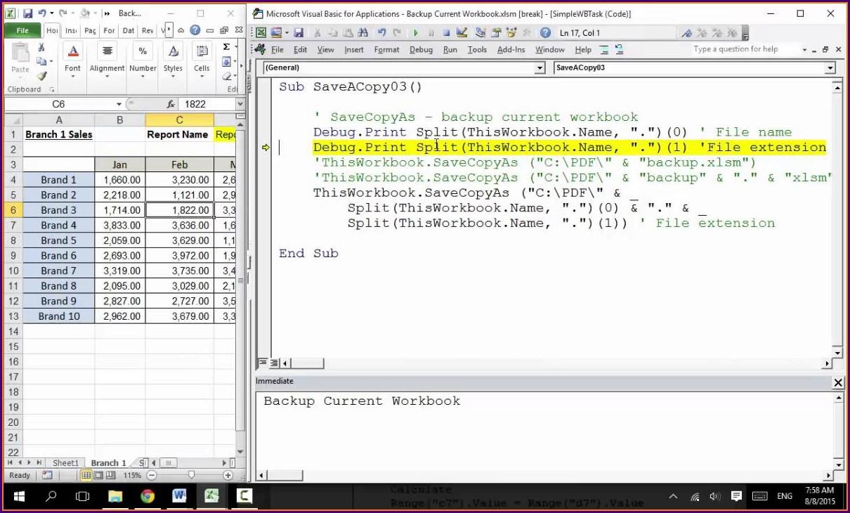 Excel Vba Copy Current Worksheet