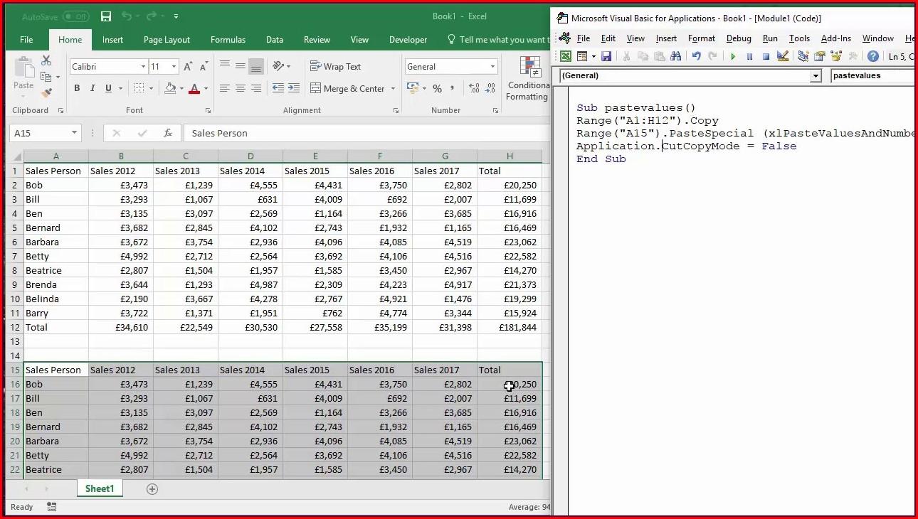 Excel Vba Copy Worksheet Formatting