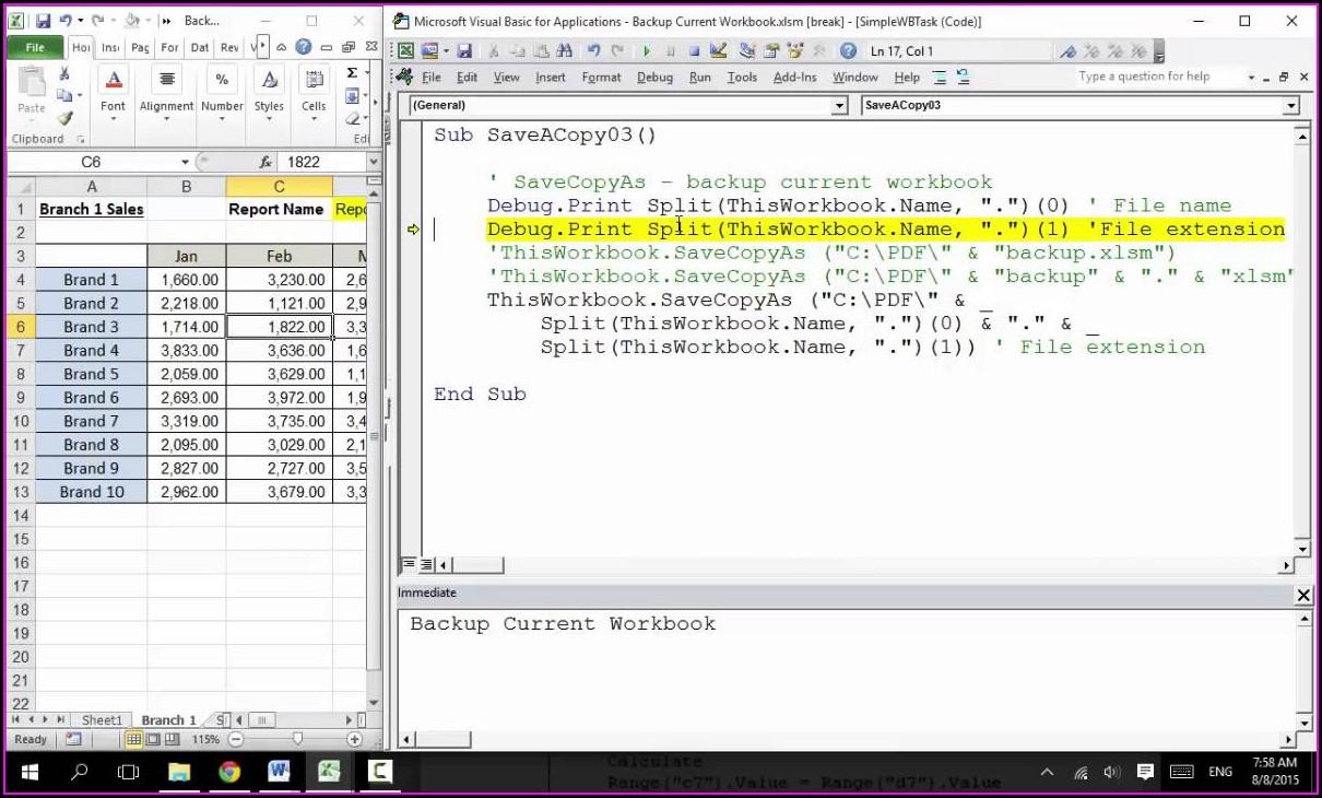 Excel Vba Copy Worksheet Into Current Workbook