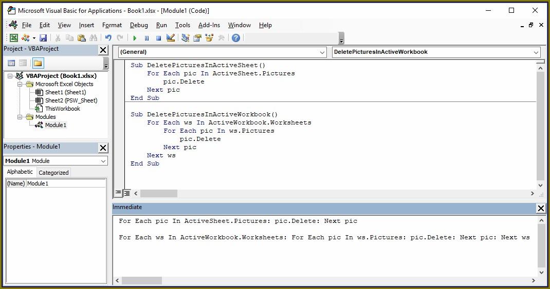 Excel Vba Delete Certain Worksheets