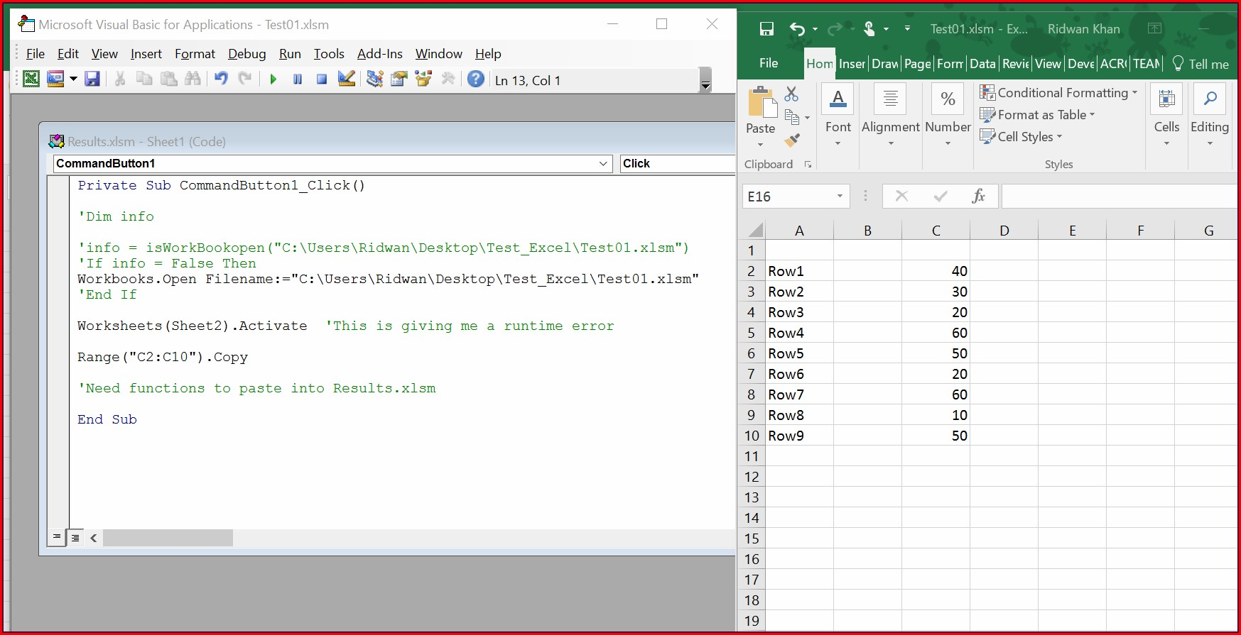 Excel Vba Get Workbook Name From Path
