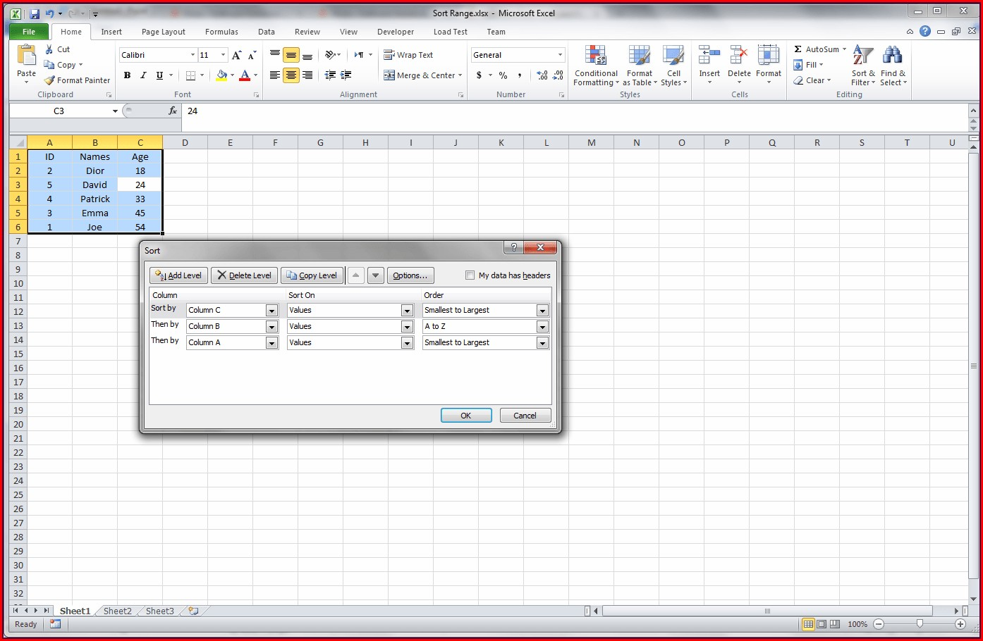 Excel Vba Sort From A To Z