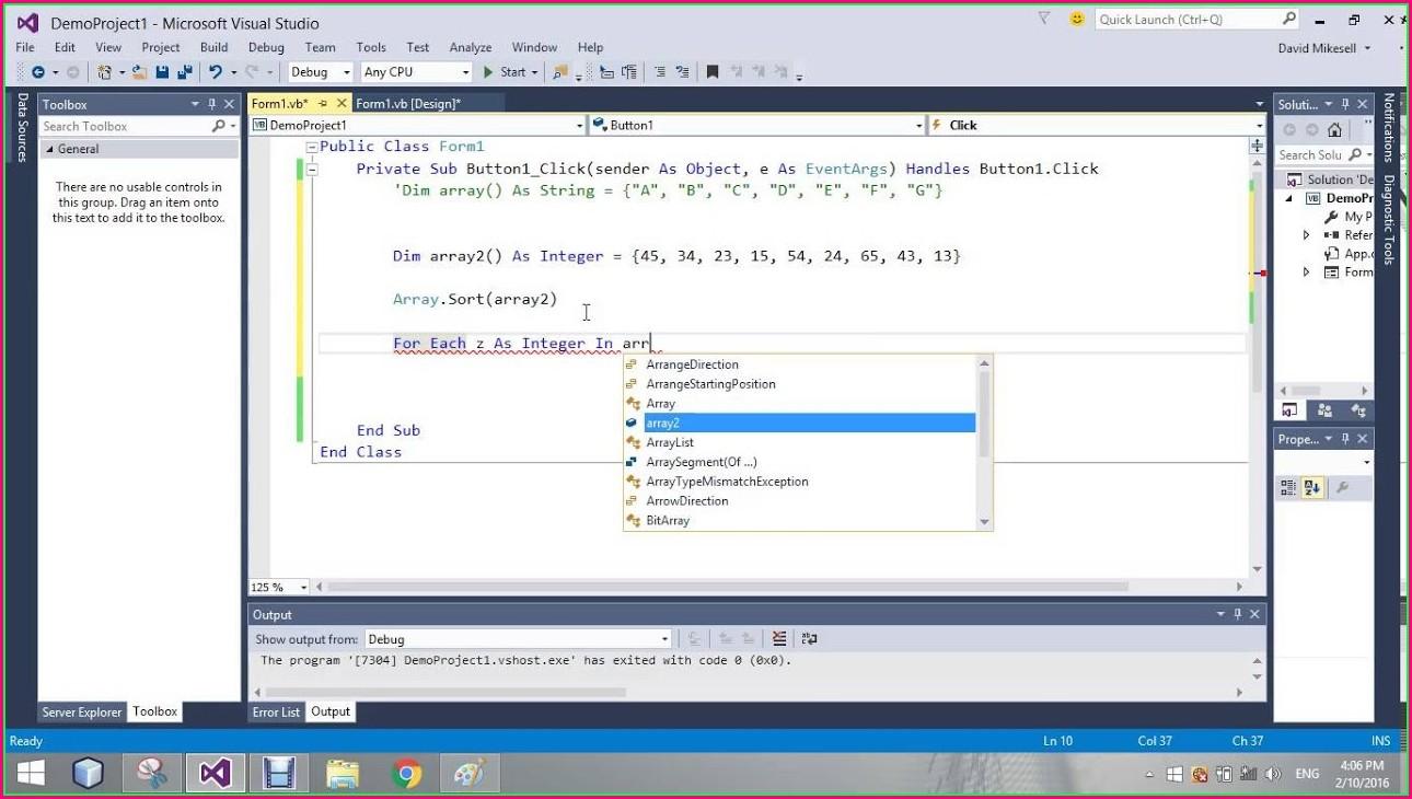 Excel Vba Sort Integer Array