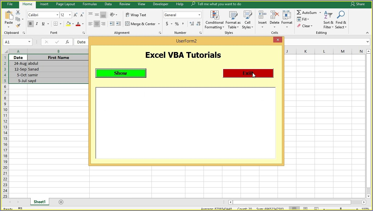Excel Vba Sort Items In Listbox