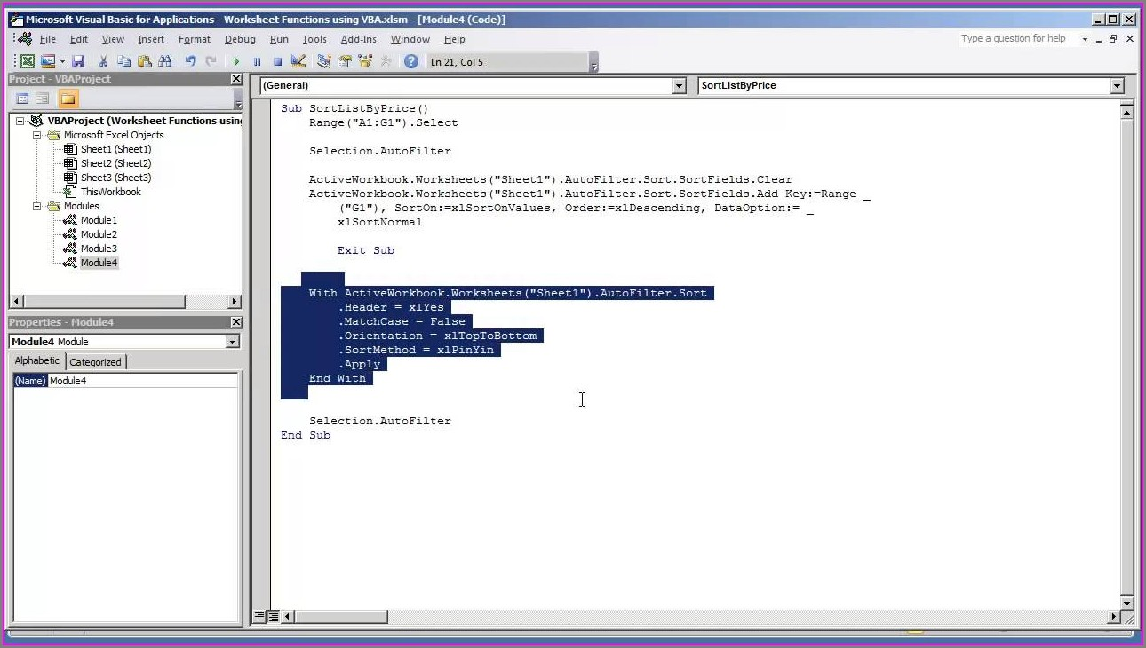 Excel Vba Sort Multiple Columns Together