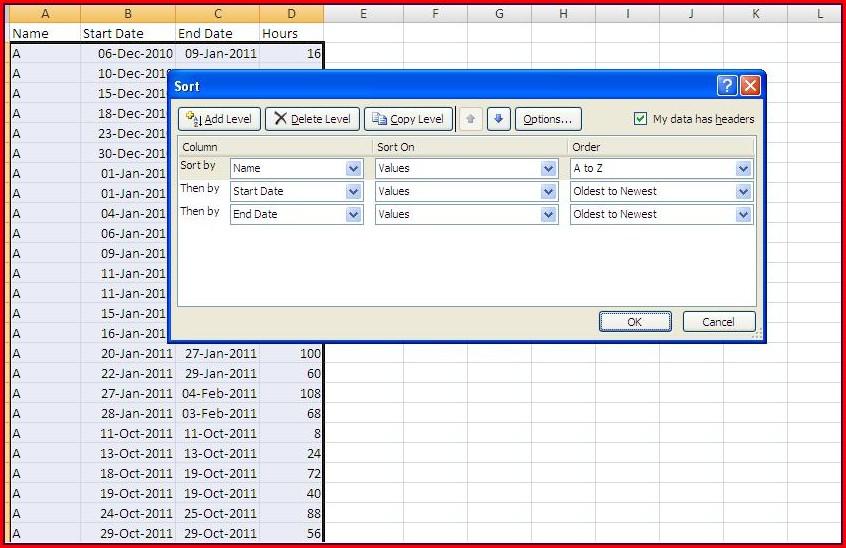 Excel Vba Sort Unknown Range