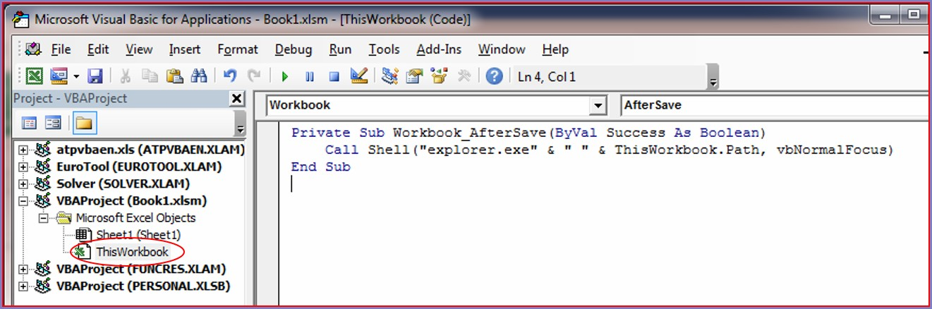 Excel Vba This Workbook Path
