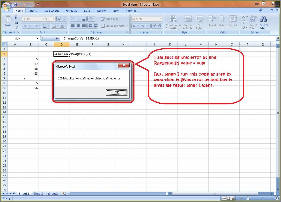 Excel Vba Workbook Function Sum