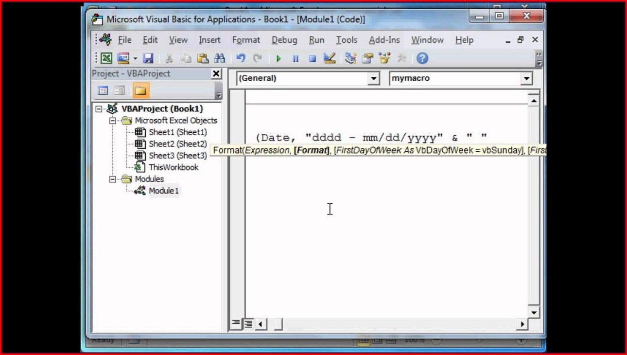 Excel Vba Workbook Open Call Module