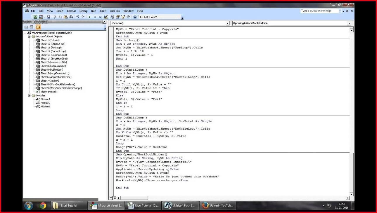 Excel Vba Workbook Open Hidden