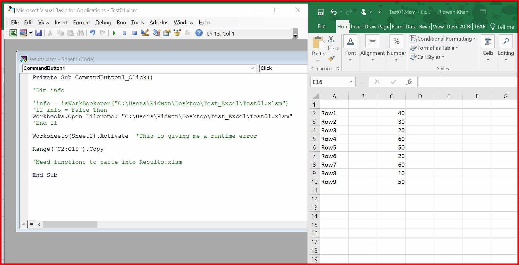 Excel Vba Workbook Open Not Working