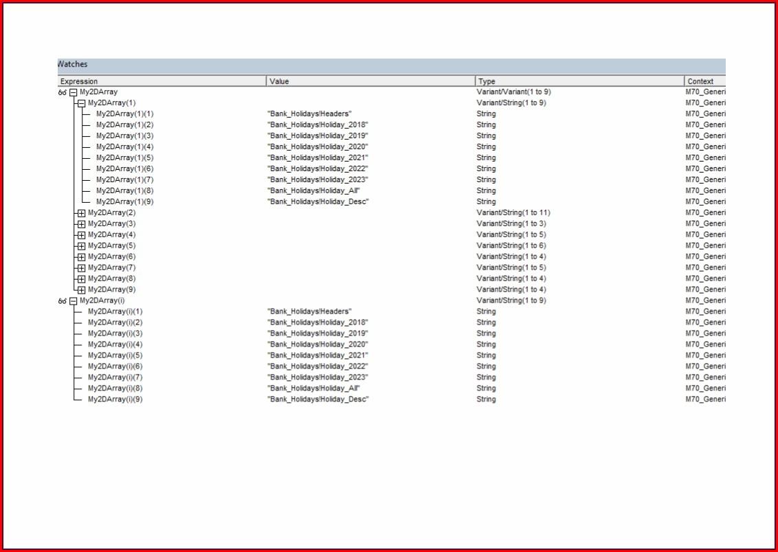 Excel Vba Worksheet Array