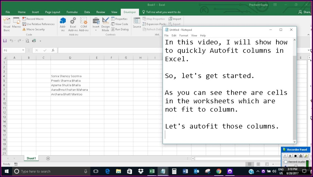 Excel Vba Worksheet Autofit