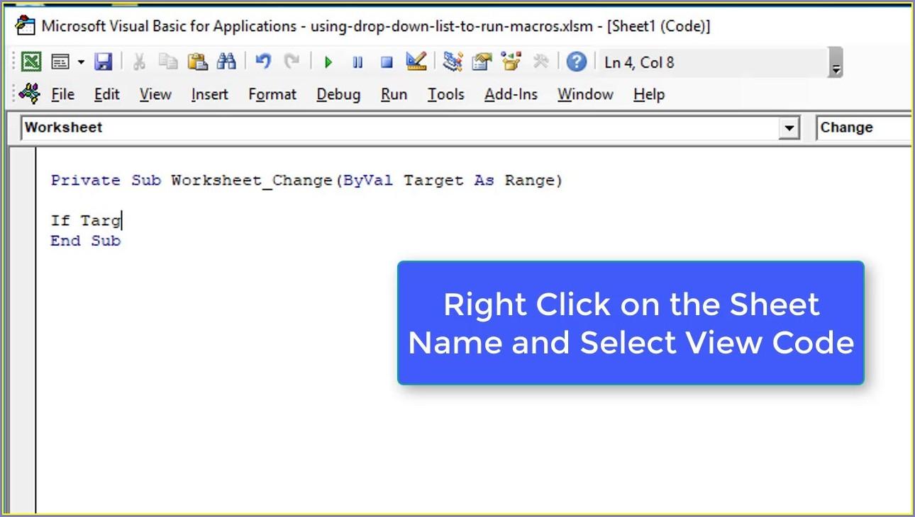 Excel Vba Worksheet Change Function