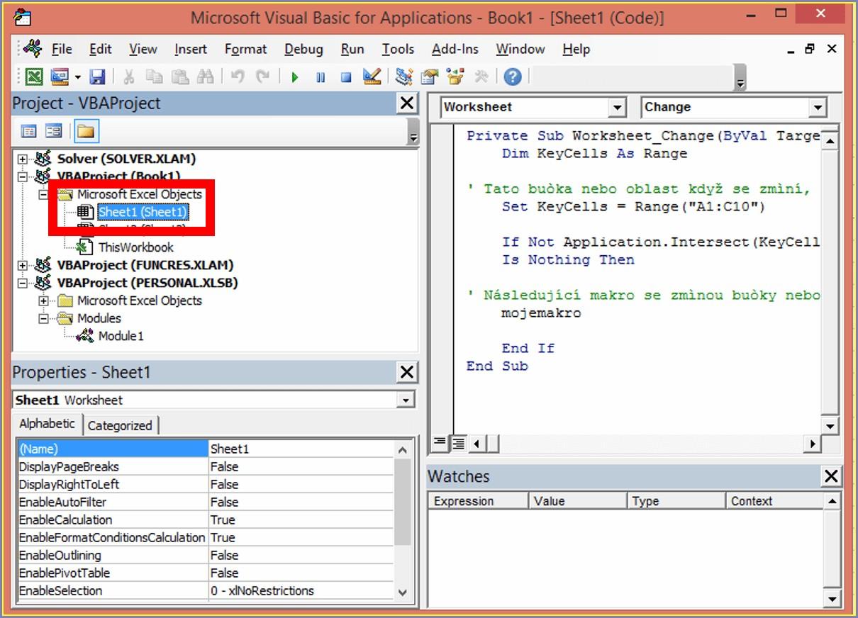 Excel Vba Worksheet Change Intersect