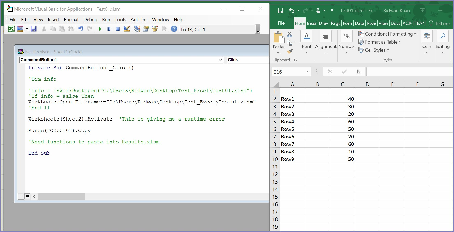 Excel Vba Worksheet Copy Set