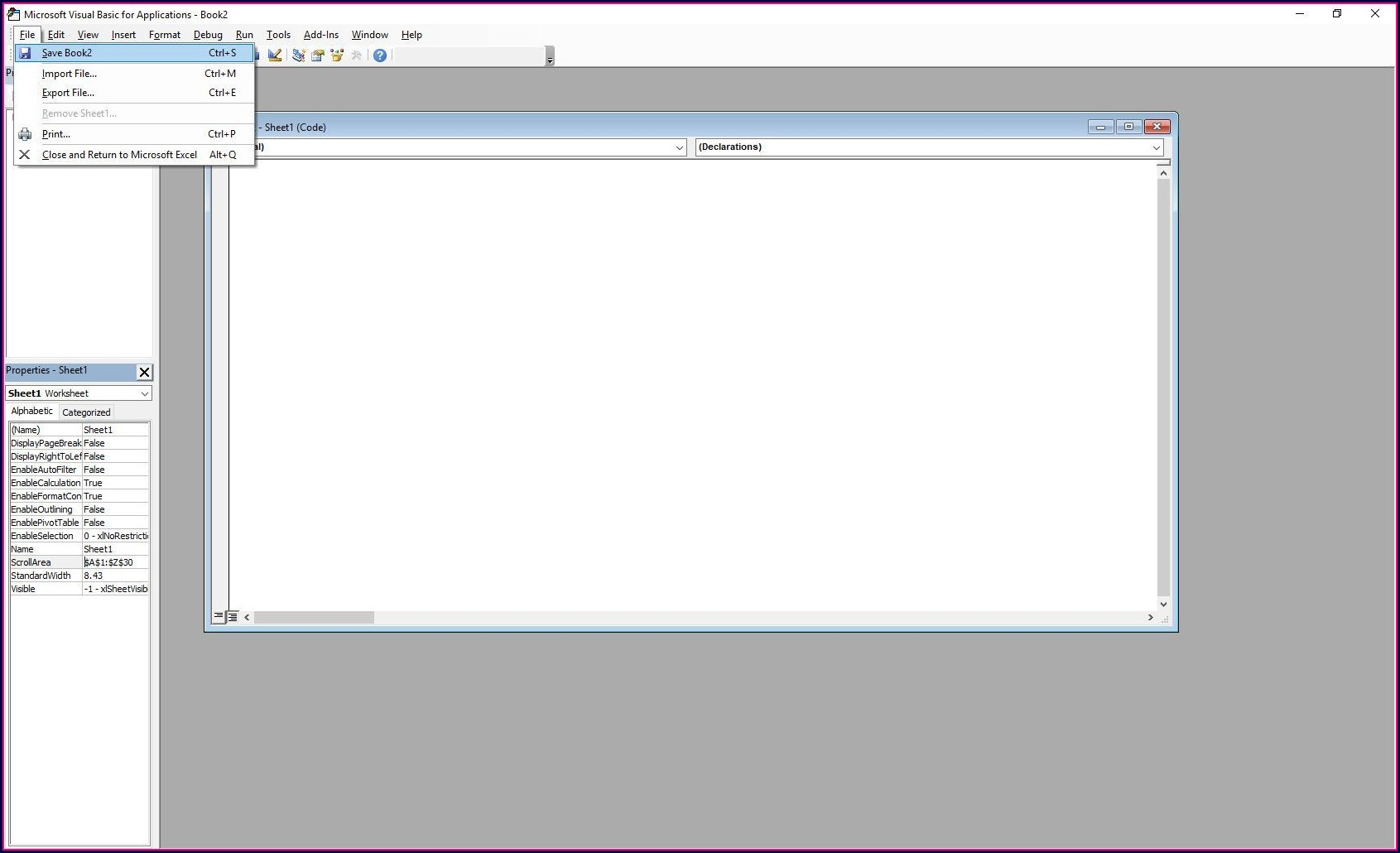 Excel Vba Worksheet Hidden