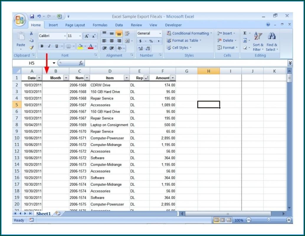 Excel Worksheet For Practice Download