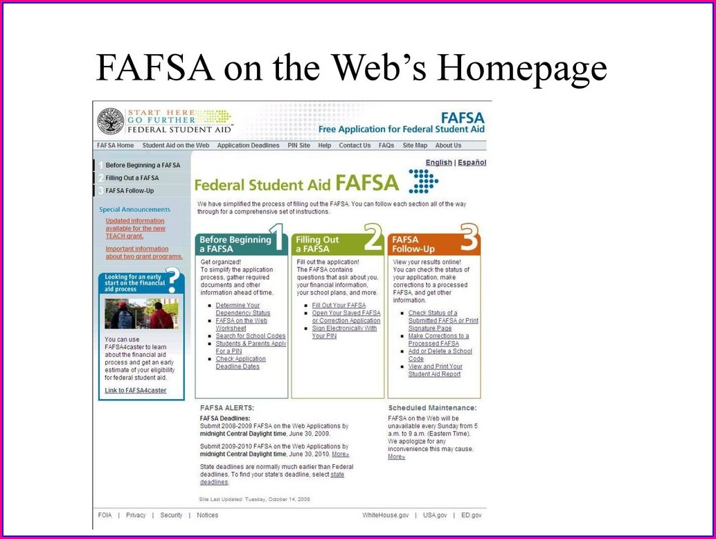 Fafsa On The Web Worksheet In Spanish