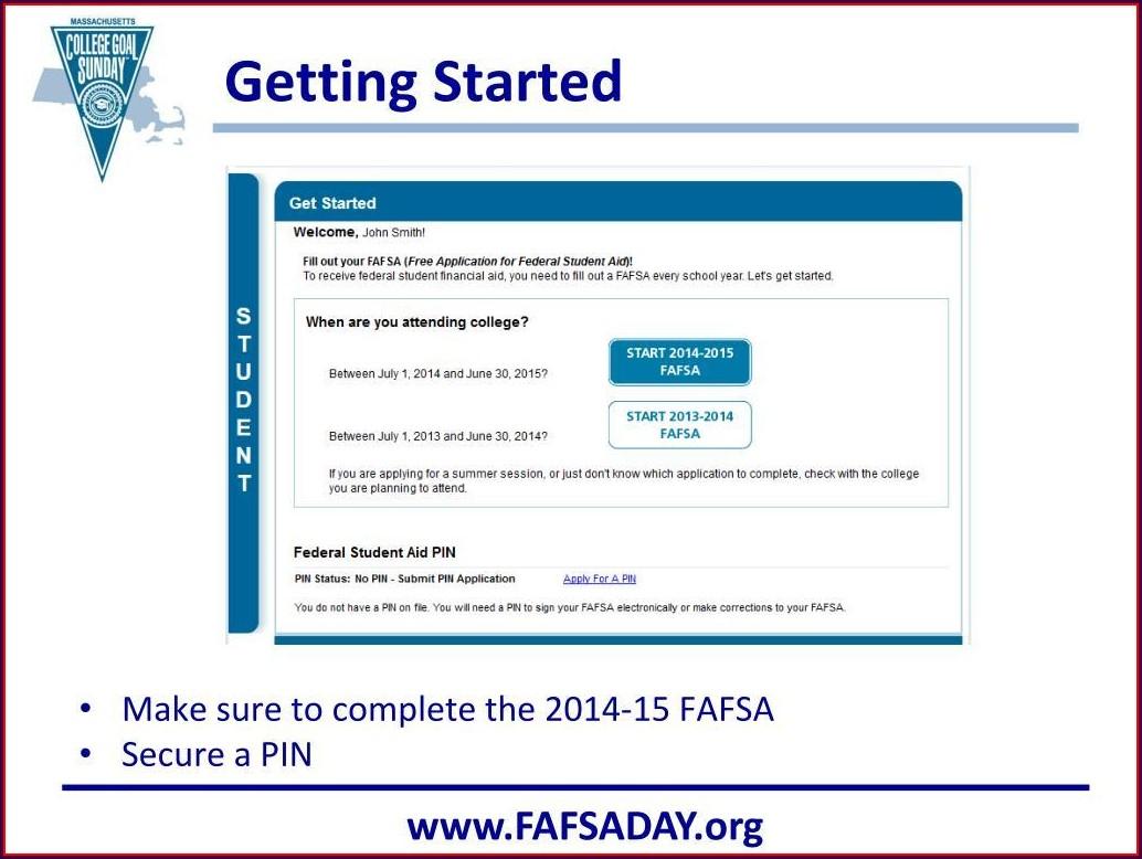 Fafsa Worksheet On The Web