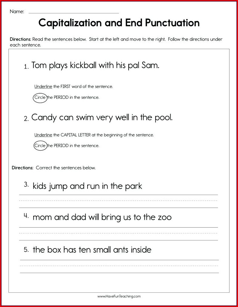Fifth Grade Grammar Worksheets For Grade 5 Pdf