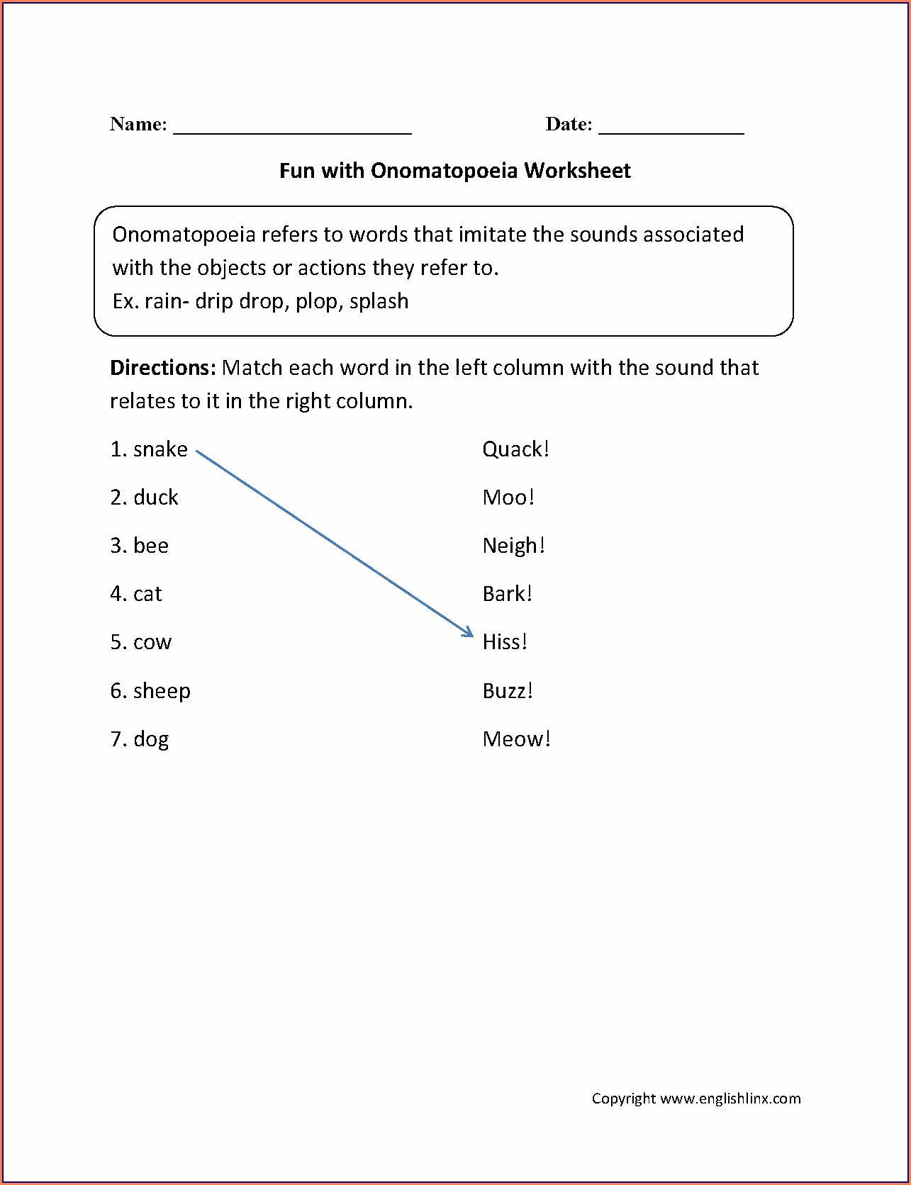 Figurative Language Worksheet Second Grade