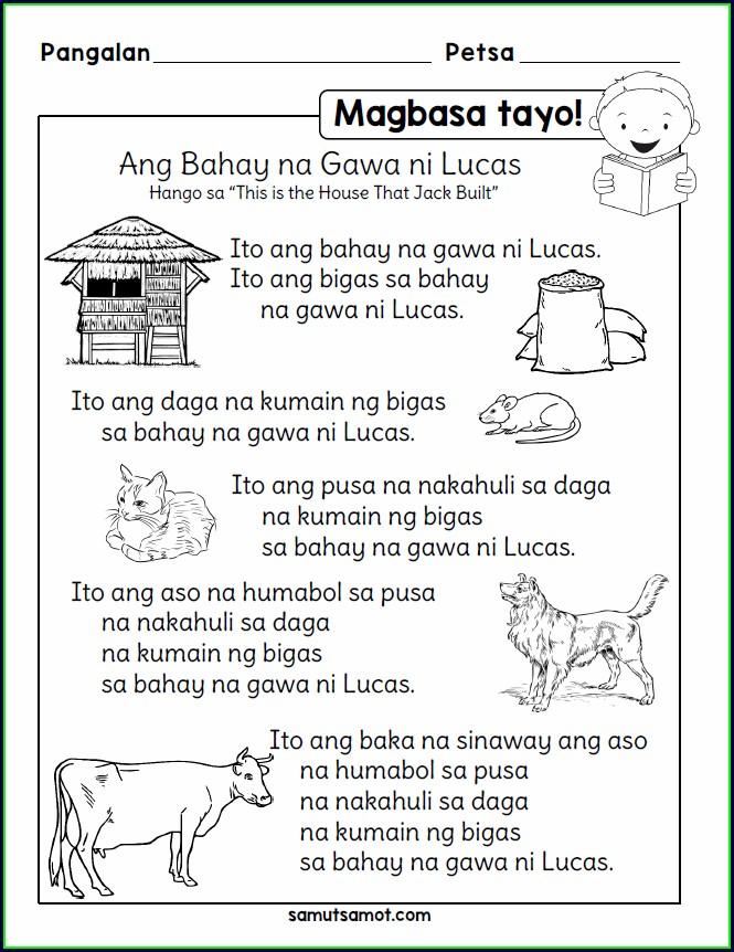 Filipino Reading Comprehension Worksheets For Grade 4 Pdf