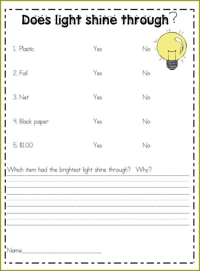 First Grade 1st Grade Science Worksheet