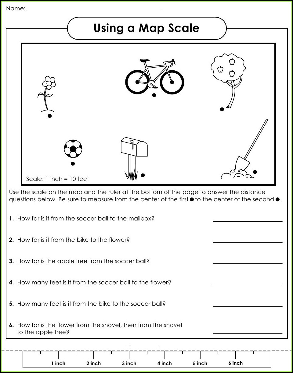 First Grade Easy Map Worksheets