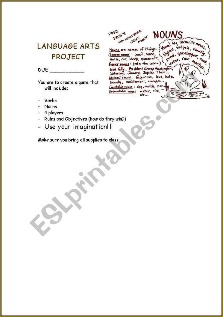 First Grade Grammar Worksheets Nouns