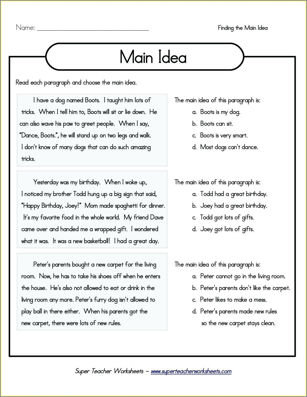 First Grade Gravity Worksheets