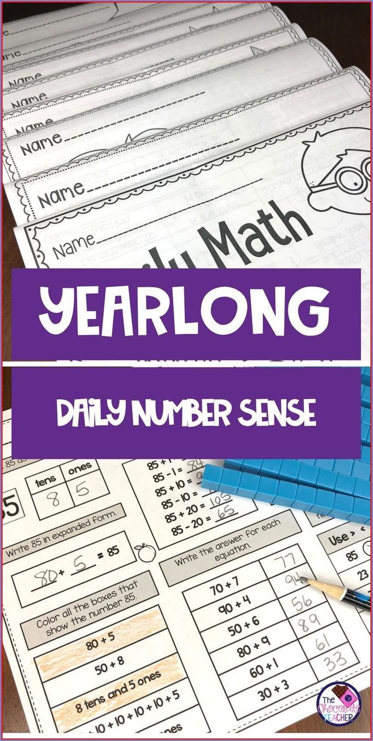 First Grade Math Worksheets Number Sense