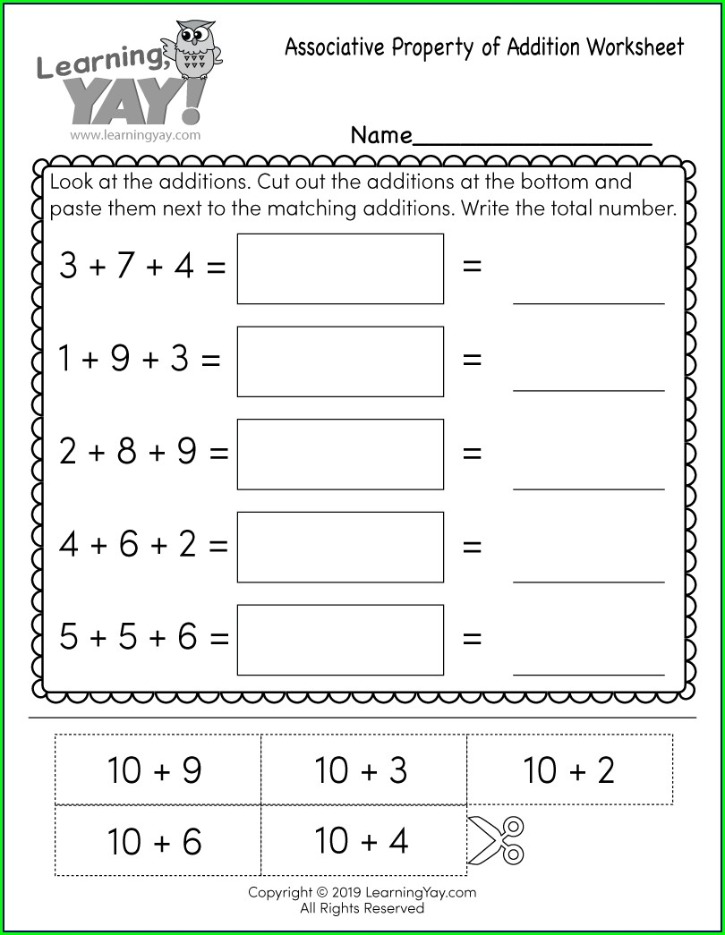 First Grade School Worksheets For 1st Graders