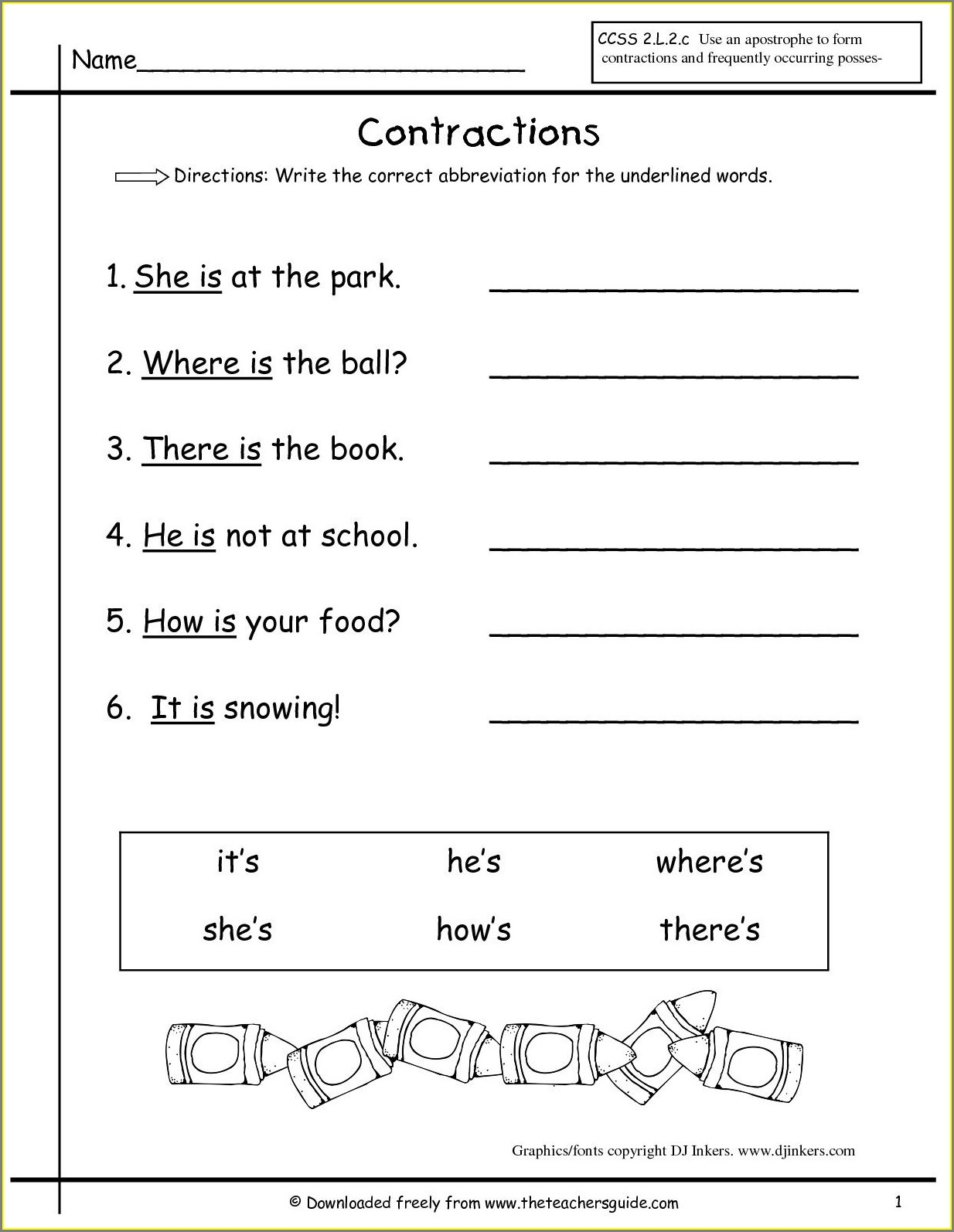 First Grade Science Year 1 Worksheet