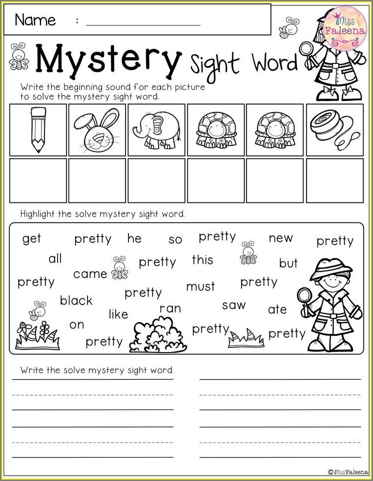 First Grade Worksheet Packets Free