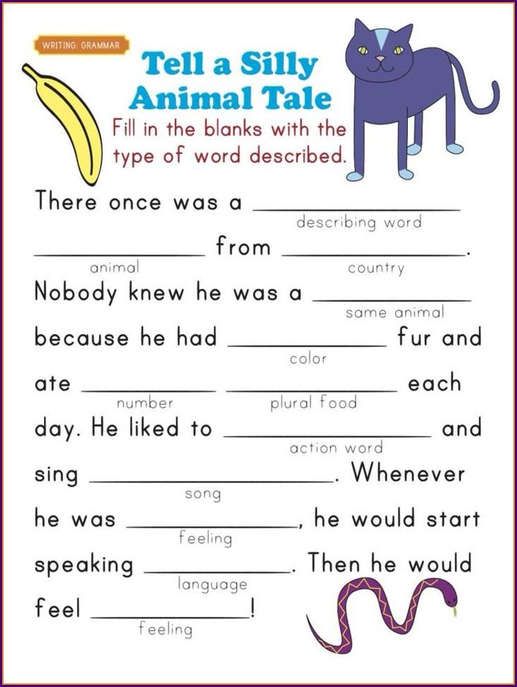 First Grade Year 1 Grammar Worksheets