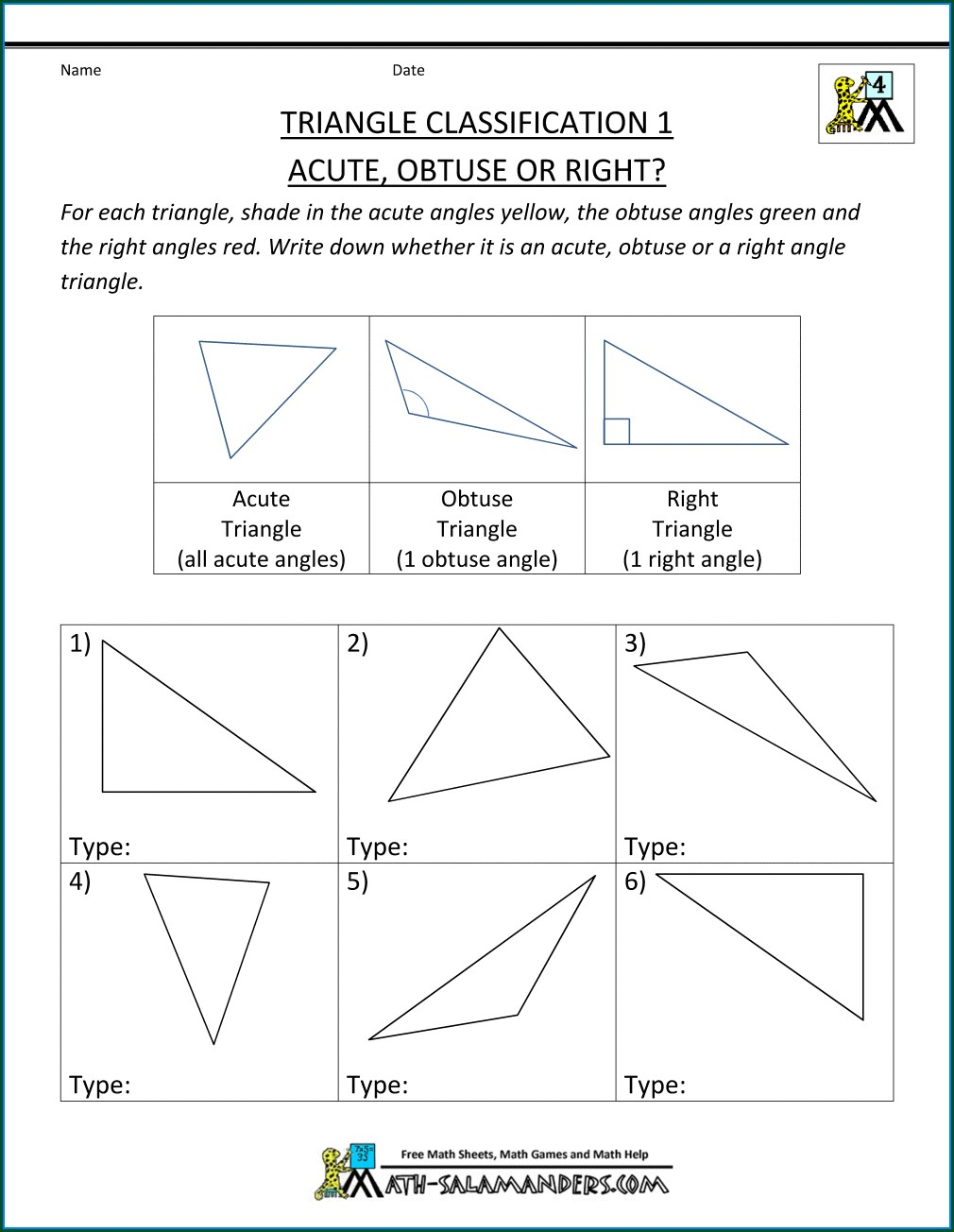 Fourth Grade 4th Grade Math Angles Worksheets