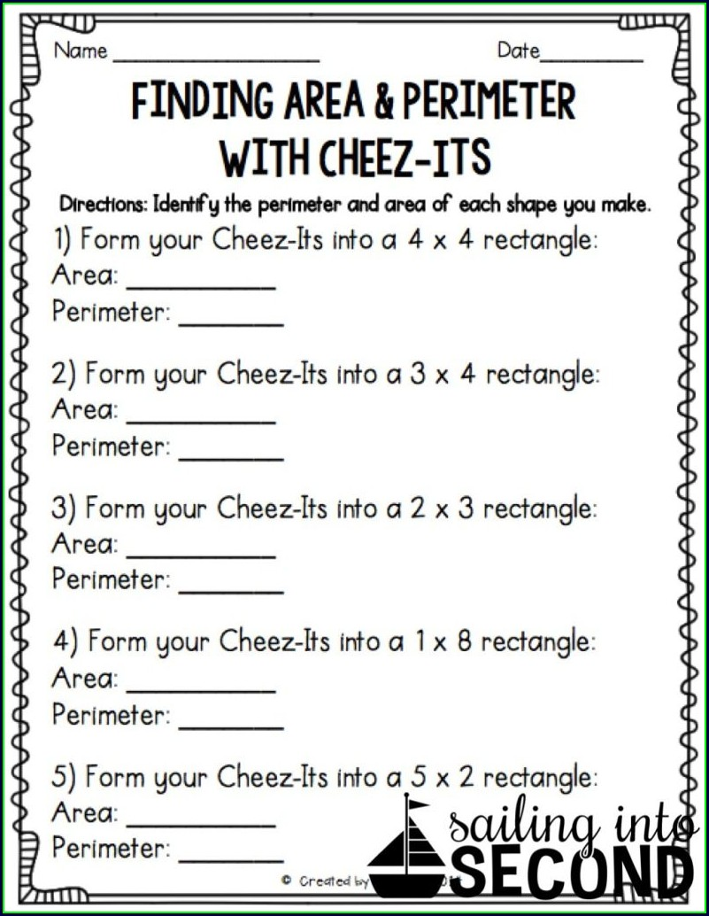 Fourth Grade Math Area And Perimeter Worksheets
