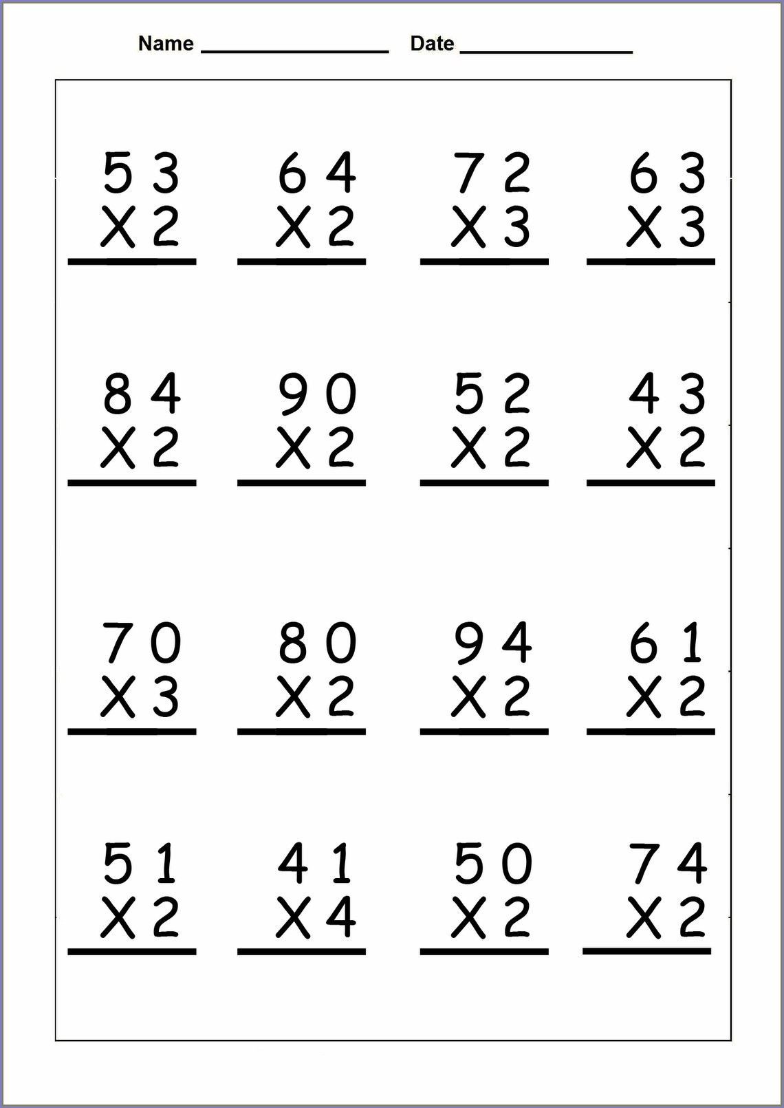 Fourth Grade Math Worksheets 4th Grade