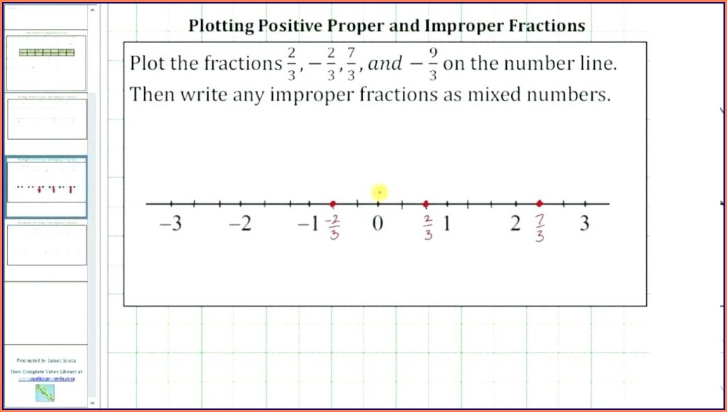 Fractions And Mixed Numbers On A Number Line Worksheet