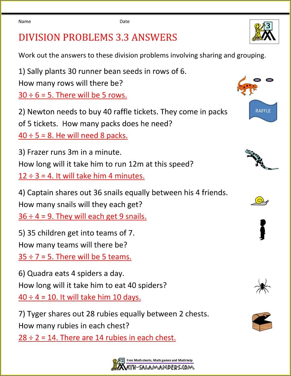 Fractions Problem Solving Worksheets Grade 3