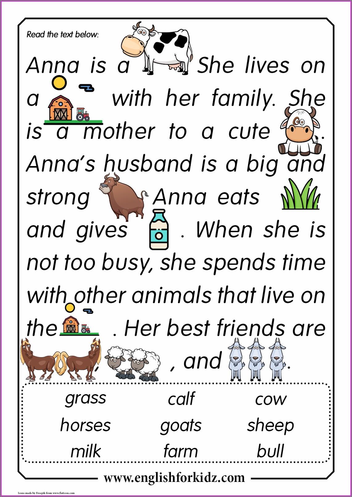 Free Comprehension Worksheets For Grade 3