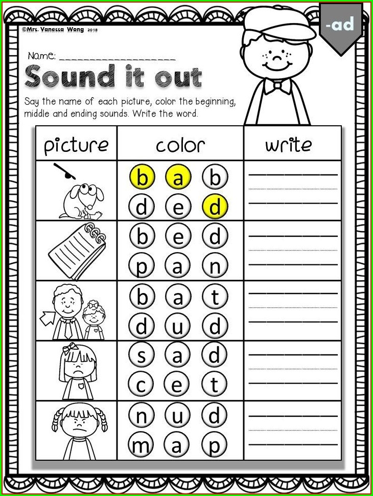 Free First Grade Phonics Worksheets