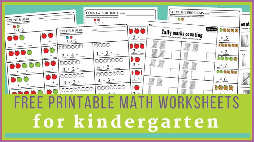 Free Kindergarten Math Worksheets Pdf