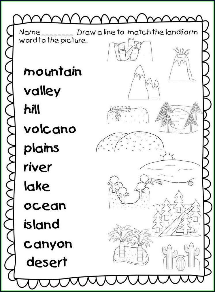 Free Landforms Worksheets 2nd Grade