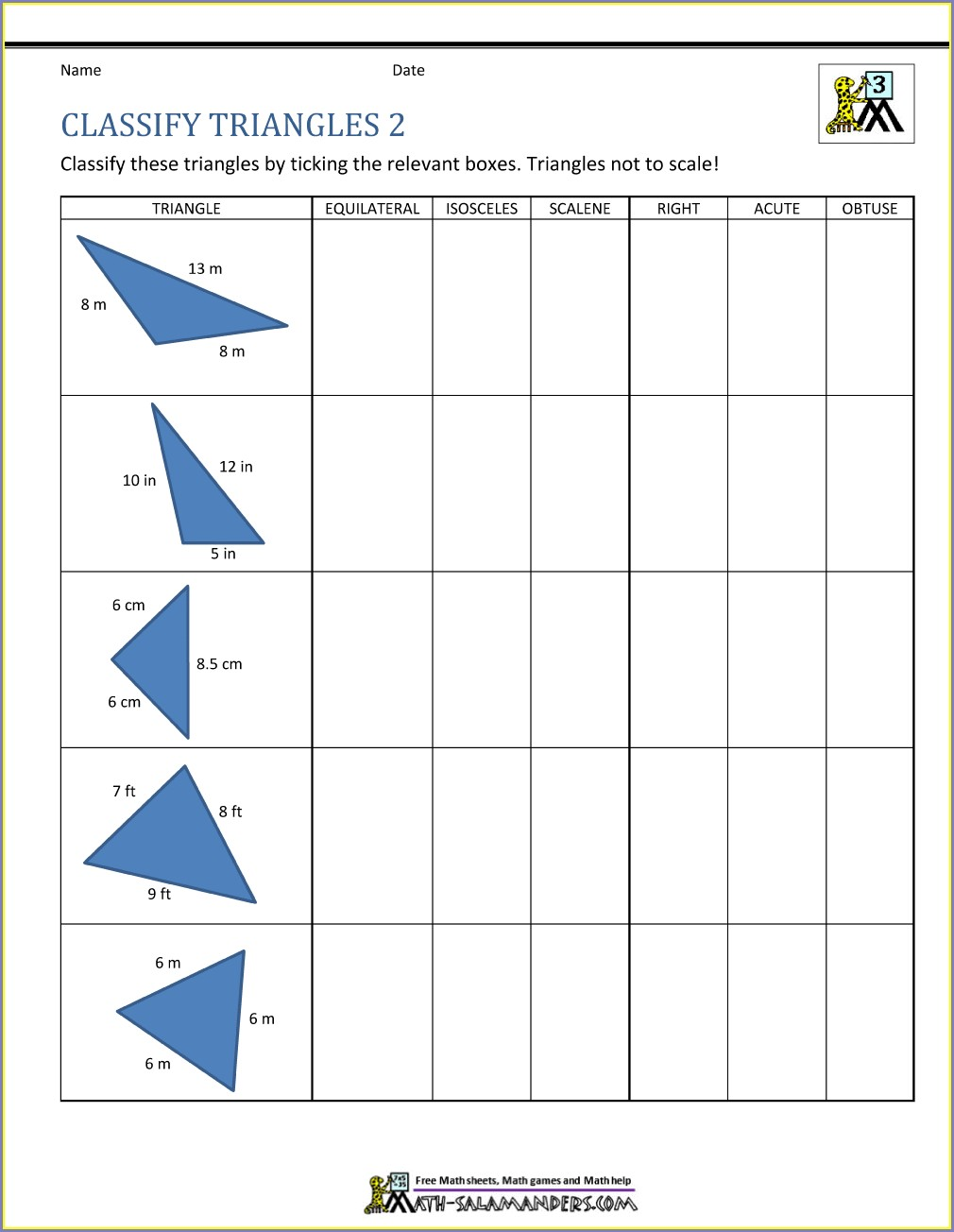 Free Printable 3rd Grade Geometry Worksheets
