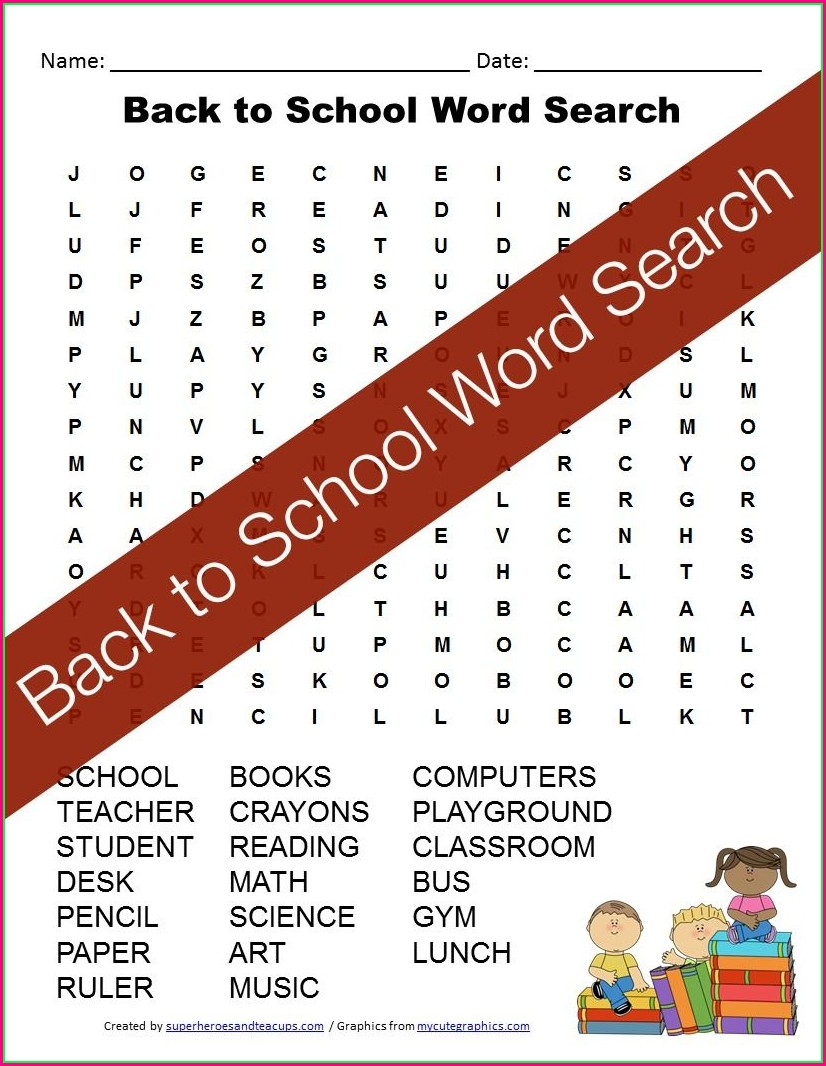 Free Printable 3rd Grade Word Search