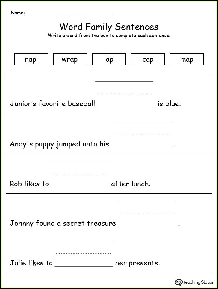 Free Printable Ar Word Family Worksheets