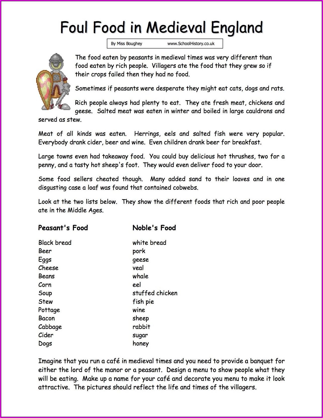 Free Printable Comprehension Worksheets Ks3