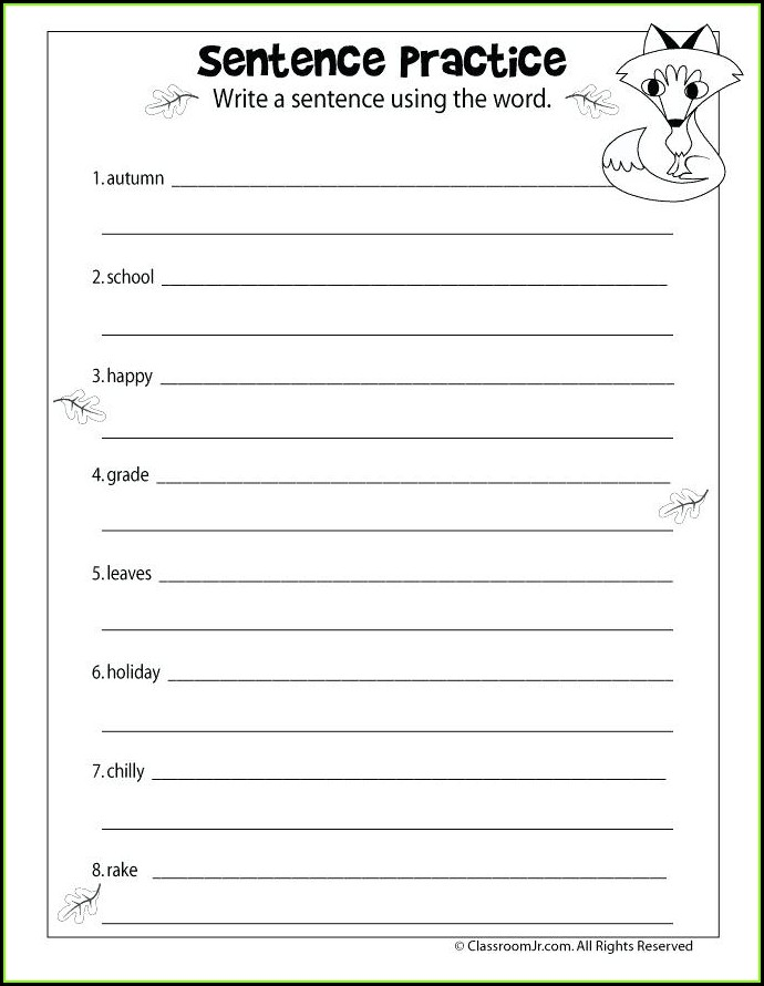 Free Printable First Grade Language Arts Worksheets